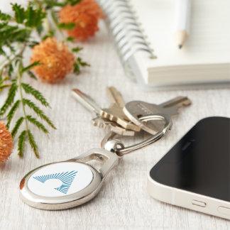 Porte-clés Porte - clé d'ovale d'icône d'AAA-CPA