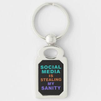 """Porte-clés Porte - clé drôle """"de médias sociaux"""""""