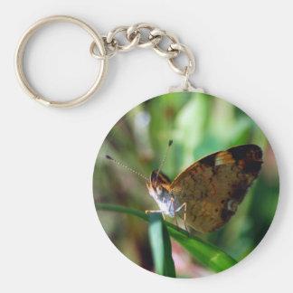 Porte-clés Porte - clé en croissant de papillon de perle