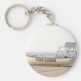 Porte-clés Porte - clé en pierre de bateau de port