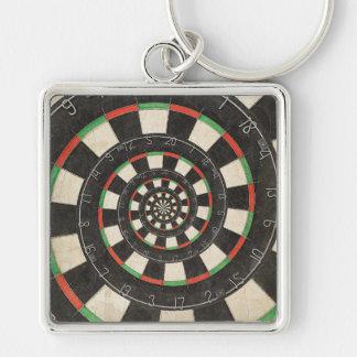 Porte-clés Porte - clé en spirale de Droste de panneau de