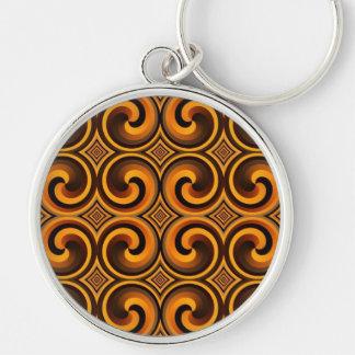 Porte-clés porte - clé en spirale vintage de motif