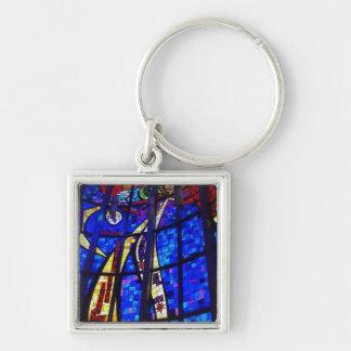 Porte-clés Porte - clé en verre souillé de contemporain