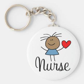 Porte-clés Porte - clé ethnique mignon d'infirmière