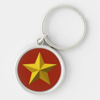 Porte-clés Porte - clé - étoile d'or