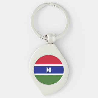 Porte-clés Porte - clé gambien de drapeau