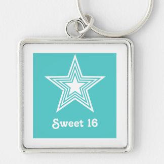 Porte-clés Porte - clé génial du bonbon 16 à étoile,