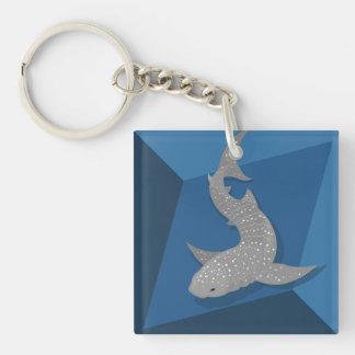 Porte-clés Porte - clé géométrique d'art de vecteur de requin