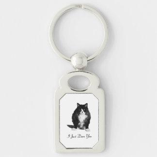Porte-clés Porte - clé grincheux de rectangle de chat