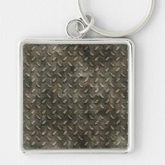 Porte-clés Porte - clé grunge de grille en métal