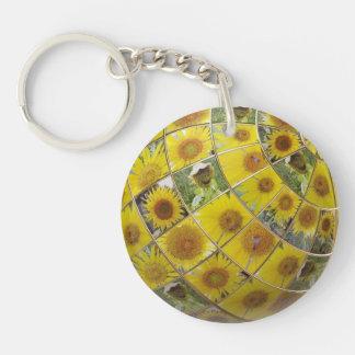 Porte-clés Porte - clé heureux de tournesol