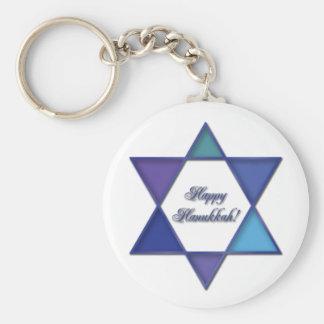 Porte-clés Porte - clé heureux d'étoile de David de Hanoukka