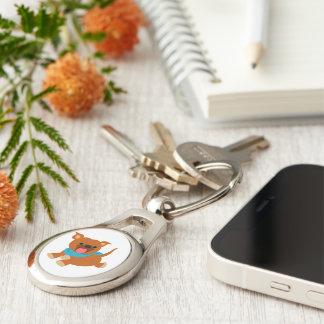 Porte-clés Porte - clé heureux mignon de Staffie de bande