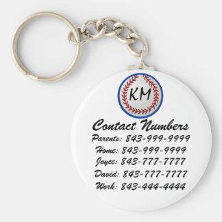 Porte-clés porte - clé important de numéros de téléphone de