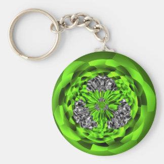 Porte-clés Porte - clé irlandais de bouton d'art d'émeraude