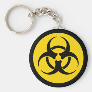 Porte-clés Porte - clé jaune de symbole de Biohazard