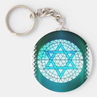 Porte-clés Porte - clé juif d'étoile de David