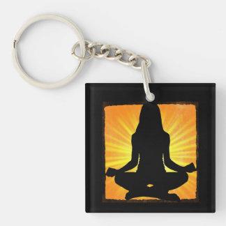 Porte-clés Porte - clé méditant de yoga de symbole de l'OM de