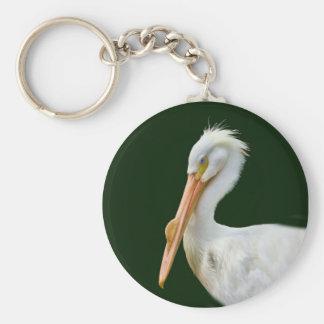 Porte-clés porte - clé merican d'oiseau de pélican blanc