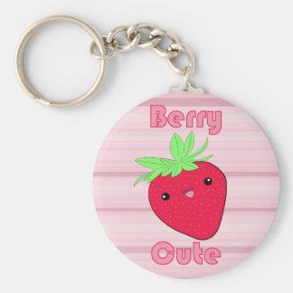 Porte-clés Porte - clé mignon de baie de fraise de Kawaii