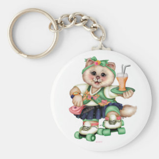 Porte-clés Porte - clé MIGNON de bouton de CAT de ROULEAU