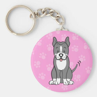 Porte-clés Porte - clé mignon de Pitbull de chien de bande