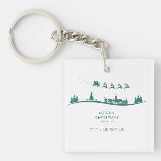 Porte-clés Porte - clé minimal simple de Noël du père noël