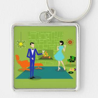 Porte-clés Porte - clé moderne de couples de la moitié du