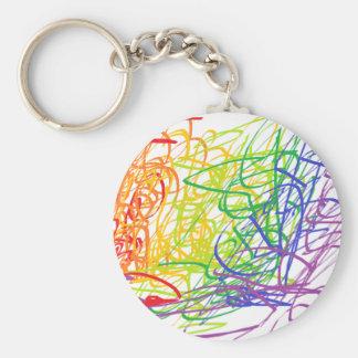 Porte-clés Porte - clé multicolore d'art moderne