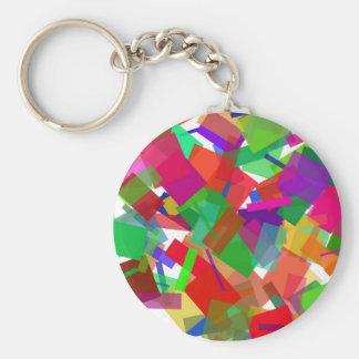 Porte-clés Porte - clé multicolore de confettis