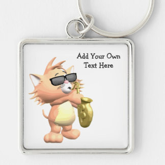 Porte-clés Porte - clé musical drôle de chat de bande