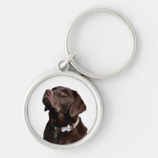 Porte-clés Porte - clé noir de chiot de Brown labrador