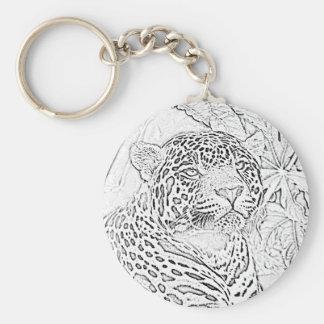 Porte-clés Porte - clé (noir) de Jaguar