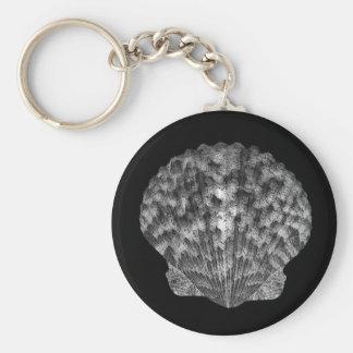 Porte-clés Porte - clé noir et blanc de coquillage