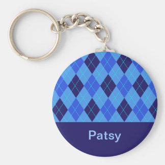 Porte-clés Porte - clé nommé personnalisé par P initial de