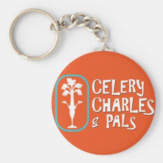 """Porte-clés Porte - clé orange de bouton de """"Charles et de"""