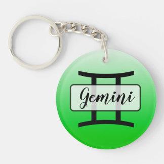 Porte-clés Porte - clé personnalisé de symbole de Gémeaux de