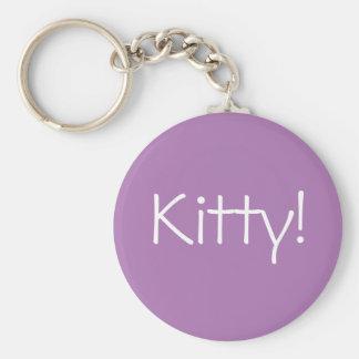 Porte-clés Porte - clé pourpre avec Kitty ! dans les lettres