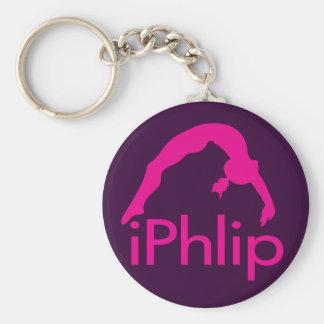 Porte-clés porte - clé pourpre de gymnastique d'iPhlip