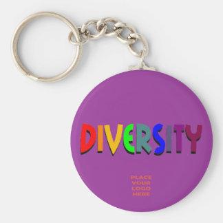 Porte-clés Porte - clé pourpre fait sur commande de diversité