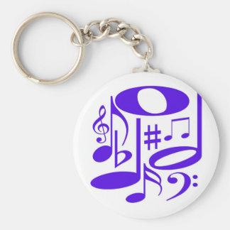 Porte-clés Porte - clé pourpre musical