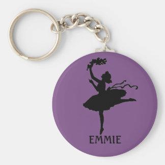 Porte-clés Porte - clé pourpre personnalisé de danseur de