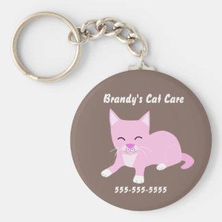 Porte-clés Porte - clé promotionnel de soin de chat