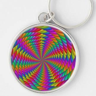 Porte-clés Porte - clé psychédélique de spirale d'arc-en-ciel