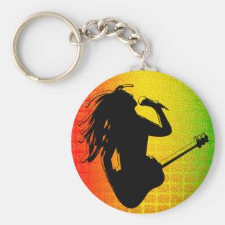 Porte-clés Porte - clé rond classique de Rasta Rastafarian de