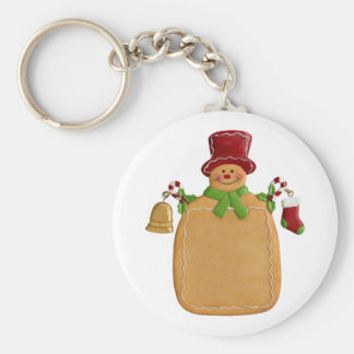 Porte-clés Porte - clé rond de bouton d'homme de pain de