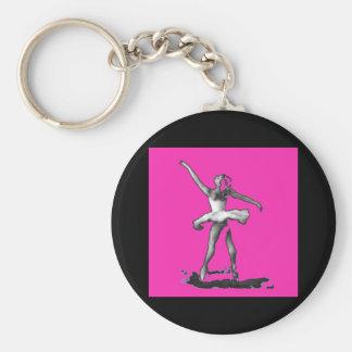 Porte-clés Porte - clé rose de ballerine