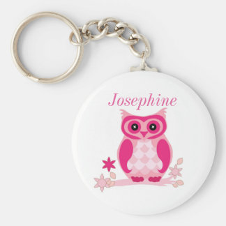 Porte-clés Porte - clé rose de hibou