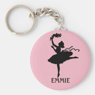 Porte-clés Porte - clé rose personnalisé de danseur de