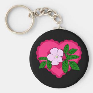 Porte-clés Porte - clé rose sauvage de Valentine